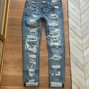Rag & Bone Dre destroyed denim jeans size 25,26